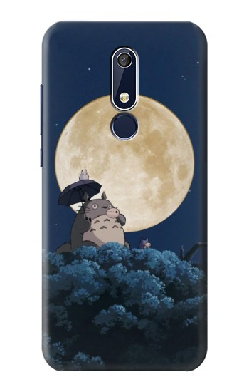 Printed Totoro Ocarina Moon Night Nokia 5.1 Case