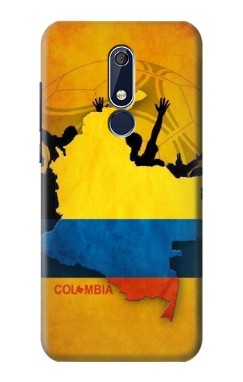 Printed Colombia Football Flag Nokia 5.1 Case