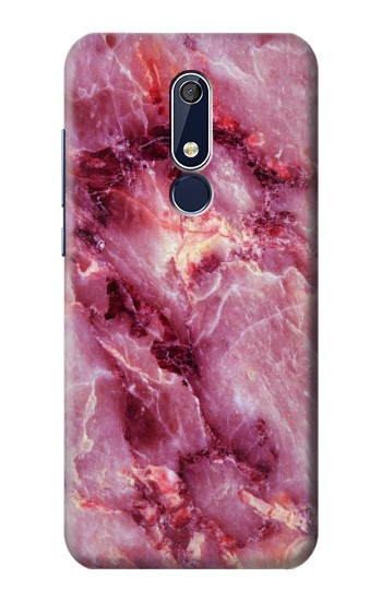 Printed Pink Marble Texture Nokia 5.1 Case