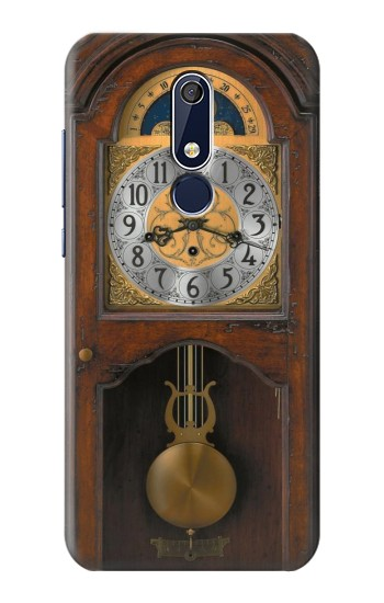 Printed Grandfather Clock Antique Wall Clock Nokia 5.1 Case