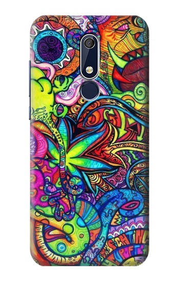 Printed Colorful Art Pattern Nokia 5.1 Case