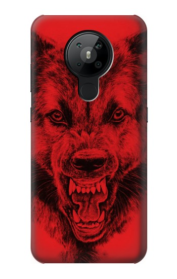 Printed Red Wolf Nokia 5.3 Case