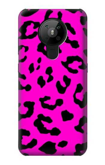 Printed Pink Leopard Pattern Nokia 5.3 Case