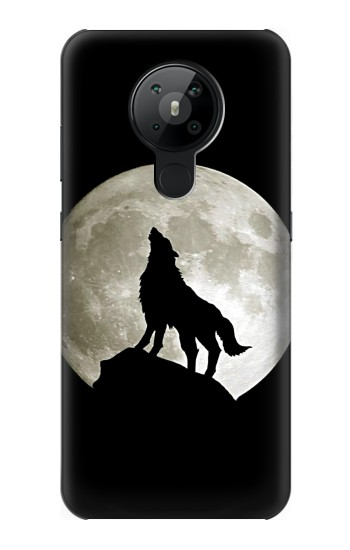 Printed Wolf Howling at The Moon Nokia 5.3 Case