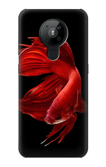 Printed Red Siamese Fighting Fish Nokia 5.3 Case