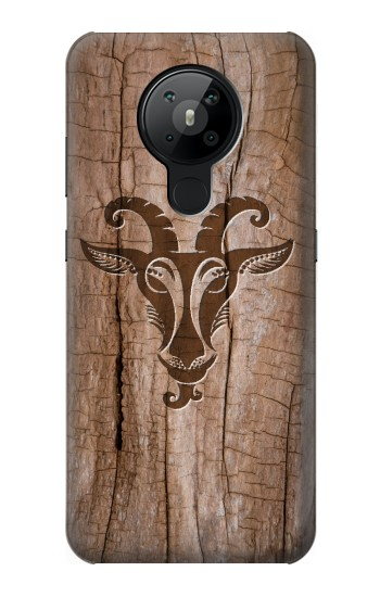 Printed Goat Wood Graphic Printed Nokia 5.3 Case