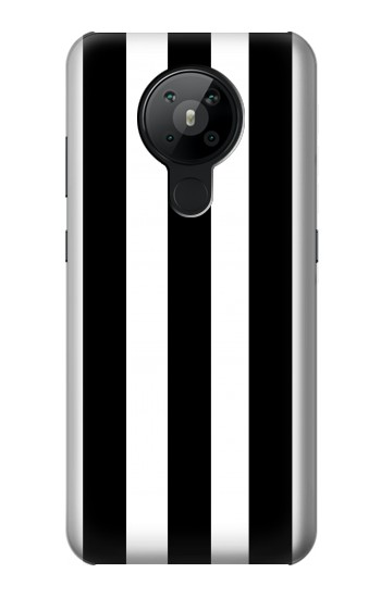 Printed Black and White Vertical Stripes Nokia 5.3 Case