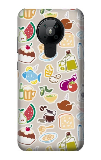Printed Food and Drink Seamless Nokia 5.3 Case