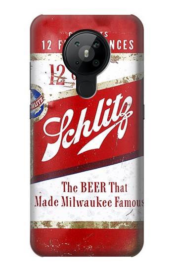 Printed Vintage Schlitz Beer Can Nokia 5.3 Case
