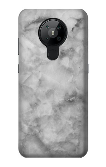 Printed Gray Marble Texture Nokia 5.3 Case
