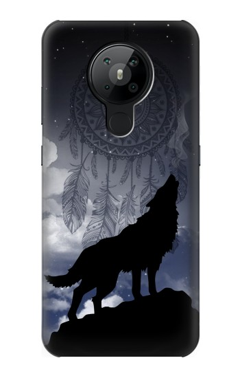Printed Dream Catcher Wolf Howling Nokia 5.3 Case