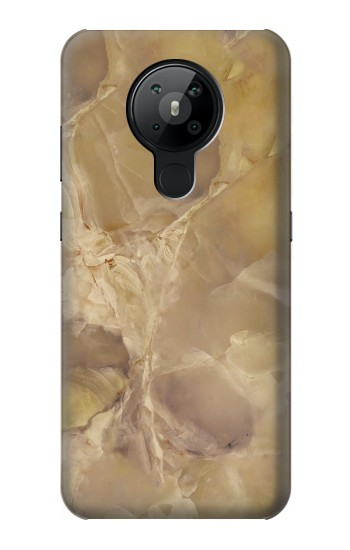 Printed Yellow Marble Stone Nokia 5.3 Case