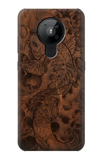 Printed Fish Tattoo Leather Graphic Print Nokia 5.3 Case