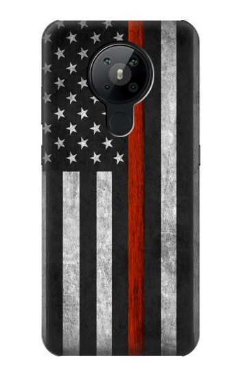 Printed Firefighter Thin Red Line Flag Nokia 5.3 Case