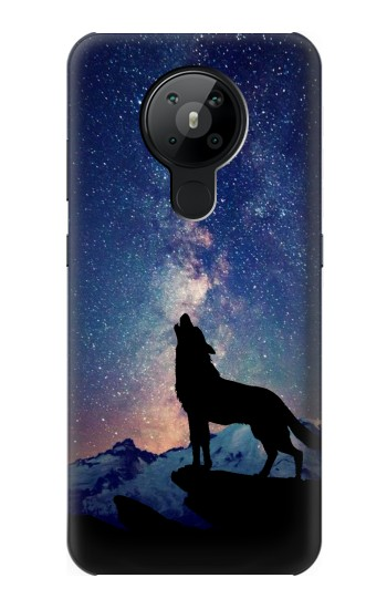 Printed Wolf Howling Million Star Nokia 5.3 Case