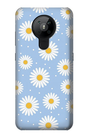 Printed Daisy Flowers Pattern Nokia 5.3 Case