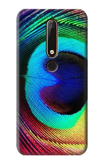 Printed Peacock Nokia 6.1 Case