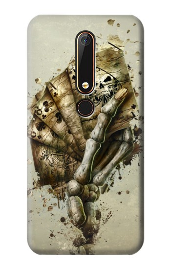 Printed Skull Card Poker Nokia 6.1 Case