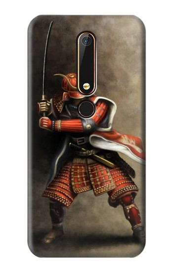 Printed Japan Red Samurai Nokia 6.1 Case