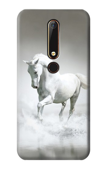 Printed White Horse Nokia 6.1 Case