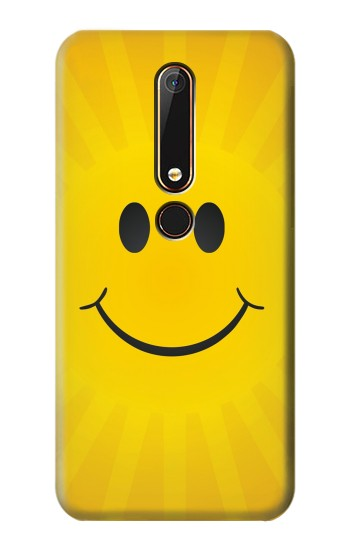 Printed Yellow Sun Smile Nokia 6.1 Case