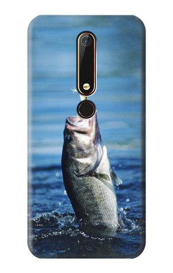 Printed Bass Fishing Nokia 6.1 Case