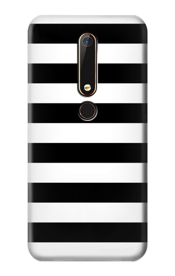 Printed Black and White Striped Nokia 6.1 Case