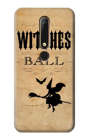 Printed Vintage Halloween The Witches Ball Nokia 6.1 Case