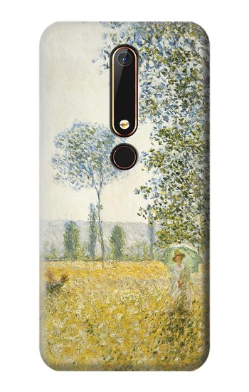 Printed Claude Monet Fields In Spring Nokia 6.1 Case