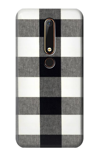 Printed Black and White Buffalo Check Pattern Nokia 6.1 Case
