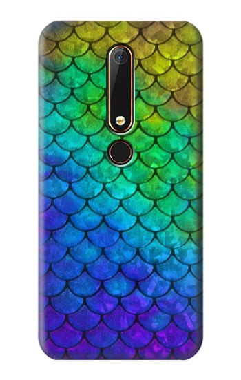 Printed Mermaid Fish Scale Nokia 6.1 Case
