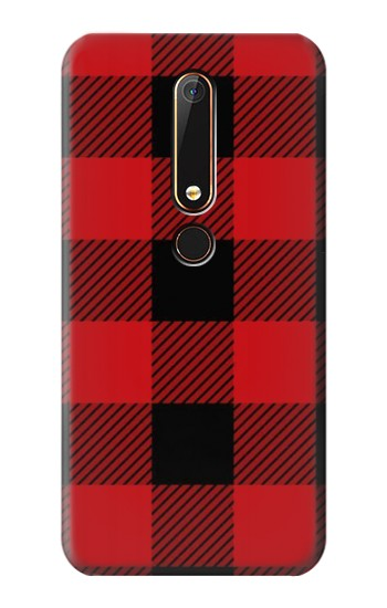 Printed Red Buffalo Check Pattern Nokia 6.1 Case