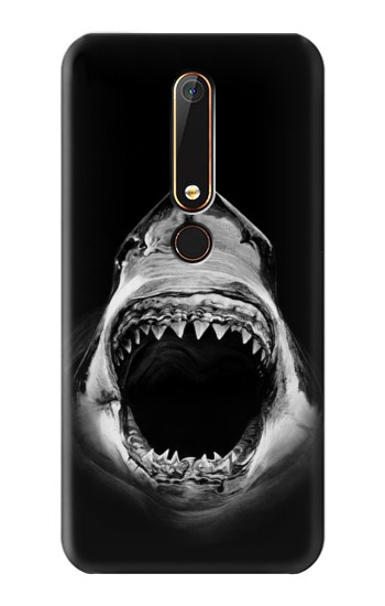 Printed Great White Shark Nokia 6.1 Case