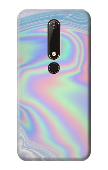 Printed Pastel Holographic Photo Printed Nokia 6.1 Case