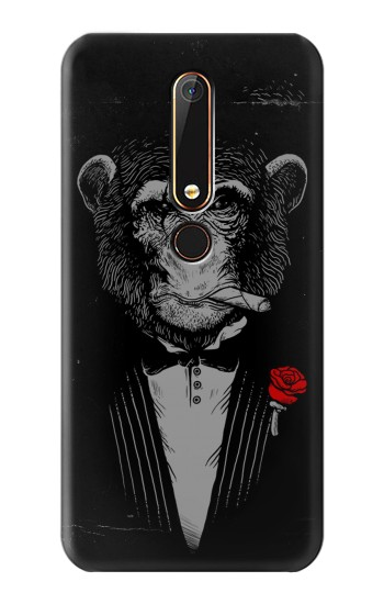 Printed Funny Monkey God Father Nokia 6.1 Case