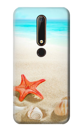 Printed Sea Shells Starfish Beach Nokia 6.1 Case