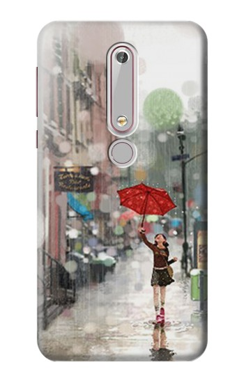 Printed Girl in The Rain Nokia 6 (2018) Case