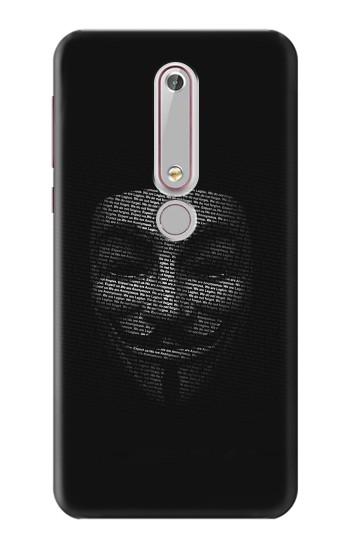 Printed Anonymous mask Nokia 6 (2018) Case