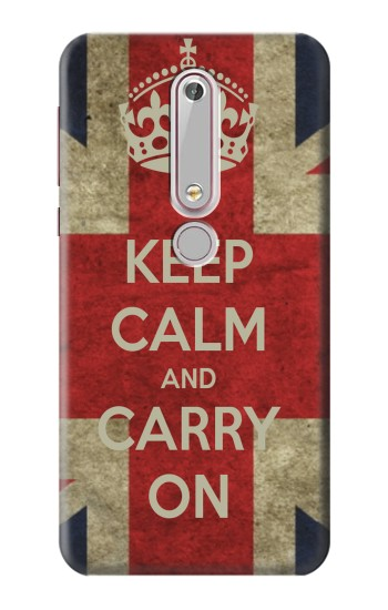 Printed Keep Calm and Carry On Nokia 6 (2018) Case
