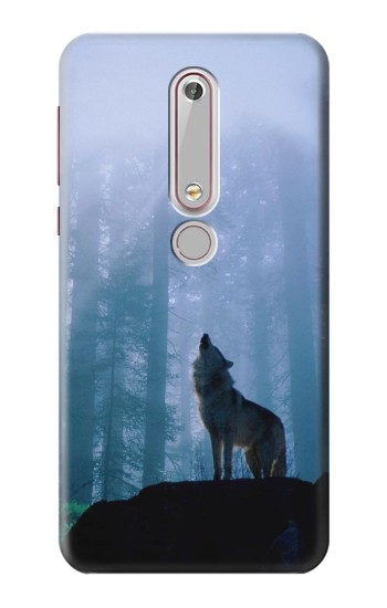 Printed Wolf Howling in Forest Nokia 6 (2018) Case