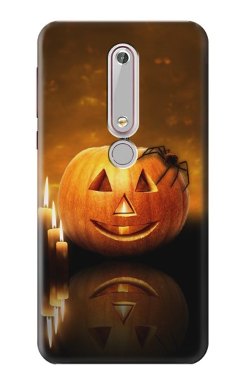 Printed Pumpkin Spider Candles Halloween Nokia 6 (2018) Case