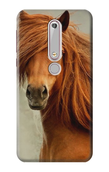 Printed Beautiful Brown Horse Nokia 6 (2018) Case
