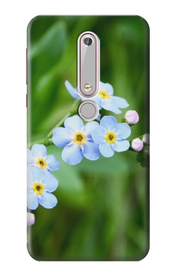 Printed Forget Me Not Nokia 6 (2018) Case