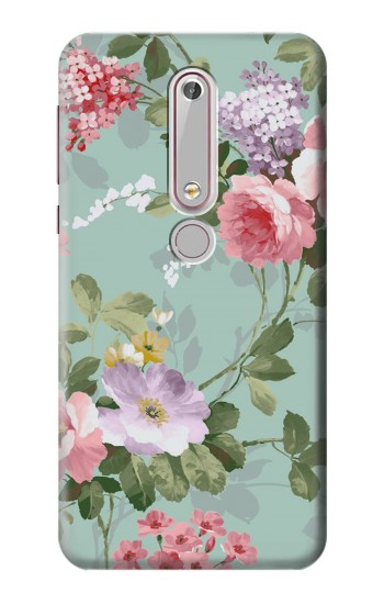 Printed Flower Floral Art Painting Nokia 6 (2018) Case
