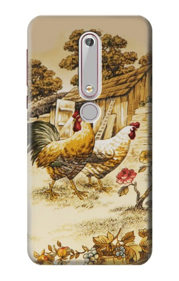 Printed French Country Chicken Nokia 6 (2018) Case