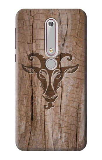 Printed Goat Wood Graphic Printed Nokia 6 (2018) Case