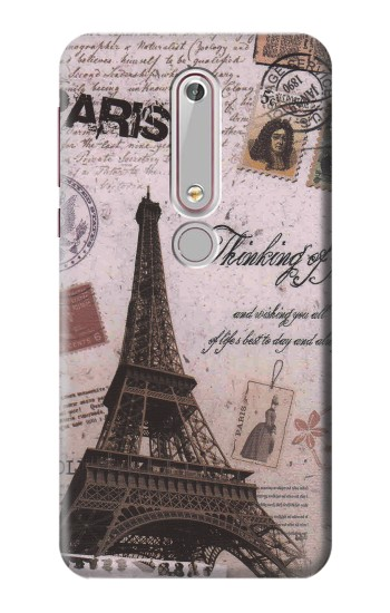 Printed Paris Postcard Eiffel Tower Nokia 6 (2018) Case