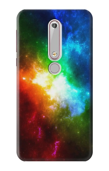 Printed Colorful Rainbow Space Galaxy Nokia 6 (2018) Case