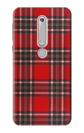 Printed Tartan Red Pattern Nokia 6 (2018) Case