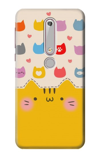 Printed Cute Cat Pattern Nokia 6 (2018) Case